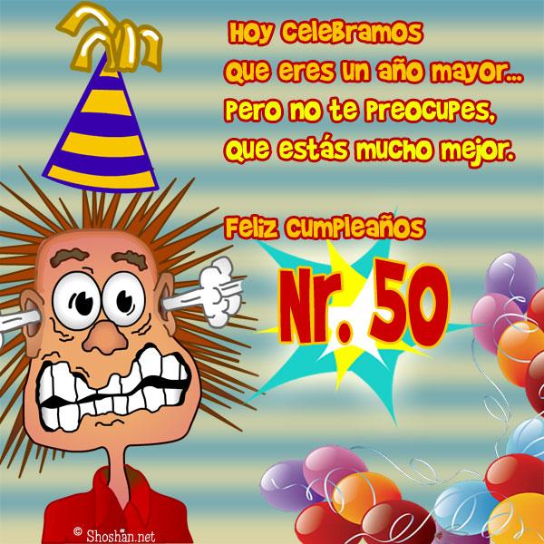 Tarjetas de cumpleaños de 50 años - Imagui