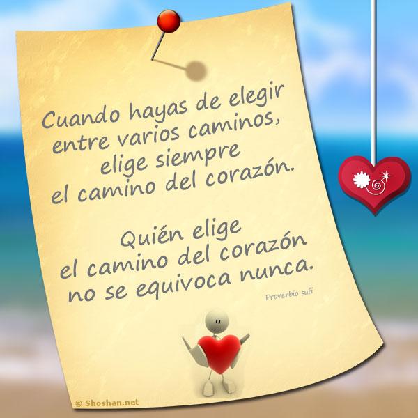 Imagen para Facebook con Frases Universales: Quién elige el camino ...