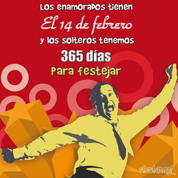 Imágen De Solteros Celebrando El Día De Los Enamorados