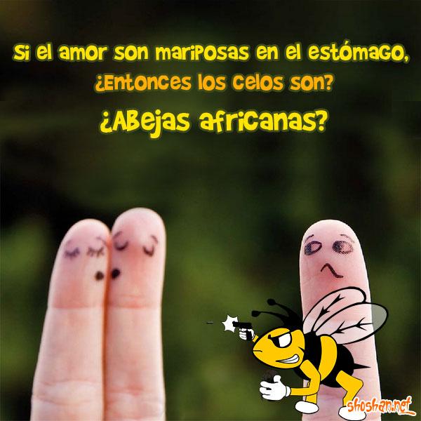 Imágenes graciosas: ¿Mariposas en el estómago o abejas