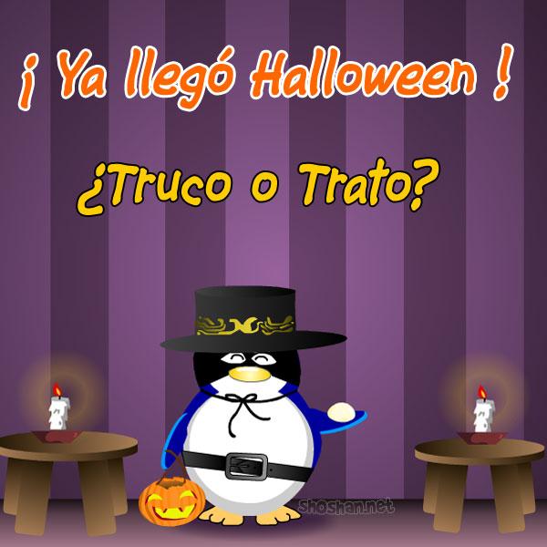 Pinguino de Halloween