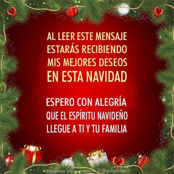 Imágen Gratis De Navidad Al Leer Este Mensaje Estarás Recibiendo