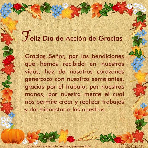 Imagenes gratis para el Día de Acción de Gracias Gracias Señor, por