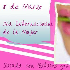 Dia Internacional De La Mujer Tarjetas Animadas Gratis Para Saludar